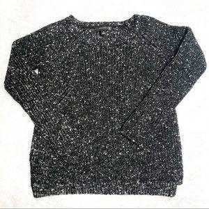 Ann Taylor | Salt n Pepper Chunky Knit Sweater